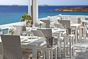 The Cyclades restaurant in Andros