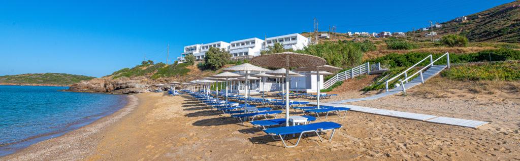 Beach Bar στην Άνδρο στην παραλία Κυπρί
