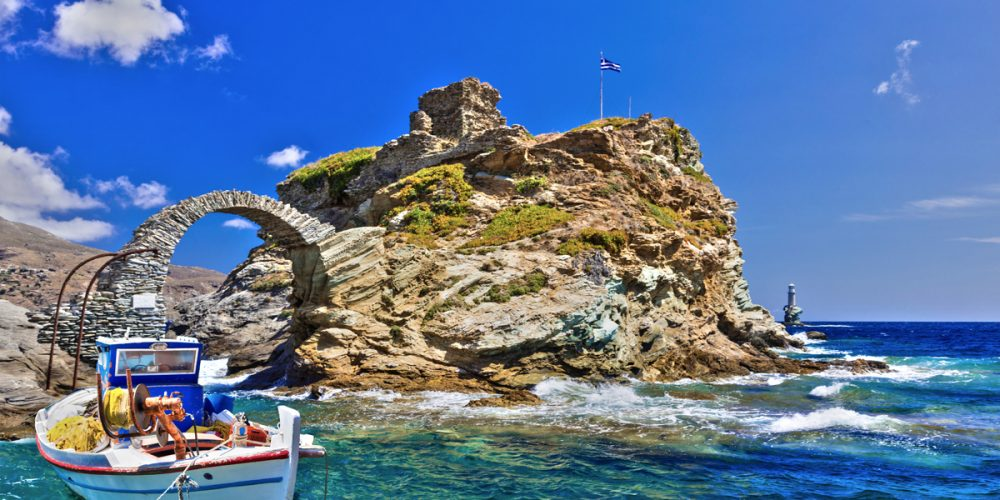 The beauty of the Medieval and Ancient ages in Andros