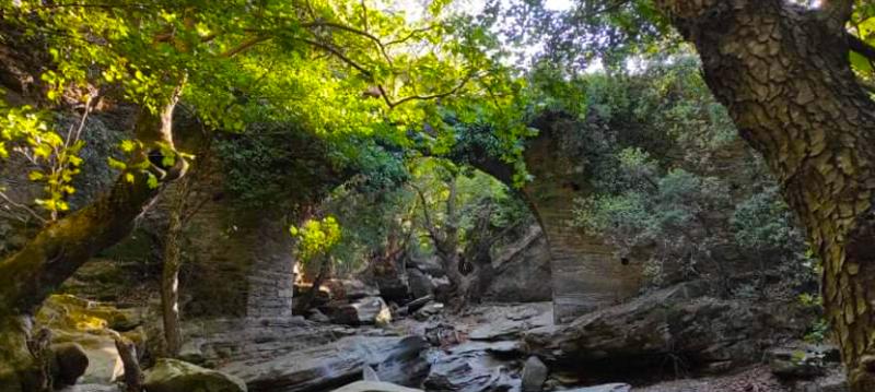 The bridge of the river Achla